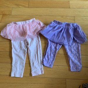 Girls 2T legging with skirts